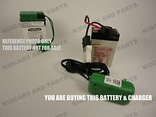 REPLACEMENT 6 VOLT BATTERY FOR PEG PEREGO # IAKB0509 AND  6 V CHARGER *BRAND NEW
