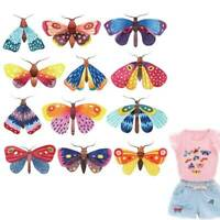 DIY Butterfly Patches Heat Transfers Stickers A-level Iron on Appliques Clothes