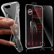 TPU Silikon Schutz Hülle Bumper Case Tasche + Panzerglas für Apple iPhone SE