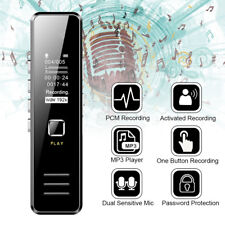 32GB Digital Mini Voice Sound Recorder Dictaphone MP3 Player USB Rechargeable UK