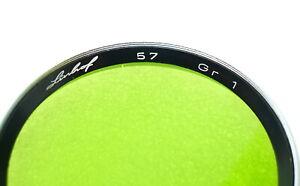 57mm Slip-On / Push- On Linhof GR-1 Filter - GREEN Contrast - PERFECT LN