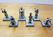 Lot of 6 Rawcliffe Pewter Firefighter & Firemen Axe First Responder Figurines