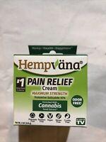 Hempvana Pain Relief Cream 4oz Maximum Strength 10% Trolamine Salicylate 10/22