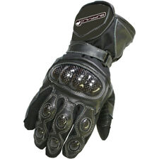 Buffalo Storm Textile Waterproof Armoured Winter Motorbike Motorcycle Gloves Black 8cm (s) BGSTOR114SM