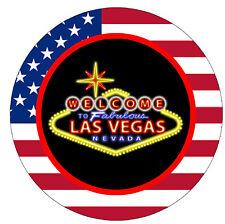LAS VEGAS - USA - SOUVENIR NOVELTY FRIDGE MAGNET - SIGHTS / FLAG / NEW / GIFTS