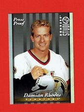 1997-98 Studio PRESS PROOFS SILVER parallel # 71 Damian Rhodes OTTAWA SENATORS