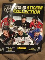 2015-16 PANINI NHL HOCKEY 72 PAGE STICKER COLLECTOR ALBUM