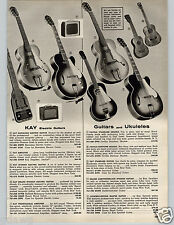 1957 PAPER AD Guitar Kay Favilla Ukulele Camera Argus Exakta Hawaiian VX 35mm