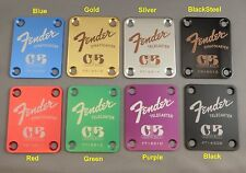 "Fender ""Custom Built"" Guitar Neck Plate - Engraved in your choice of 8 colors"