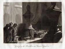 GRAVURE RELIGION / GODEFROY DE BOUILLON AU SAINT SEPULCRE