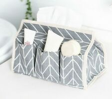 Tissue Box Cotton Linen Art Designed Napkin Holder Cover For Room Organizer Case