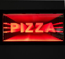 Led Pizza Sign Animated Neon Light Tunnel Lamp Infinity Mirror Light Frame