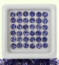 1.75 CTS Natural Iolite Round Cut 3 mm Lot 20 Pcs Lustrous Blue Shade Gemstones