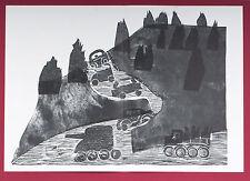 """HAP Grieshaber, « albaufstieg de GRAVURE SUR BOIS 1973 """"wacholderengel """" signé"""