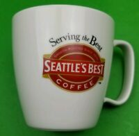 "Seattle's Best Coffee Mug 16 oz. ""Serving the Best"" Ivory Colored 2005"