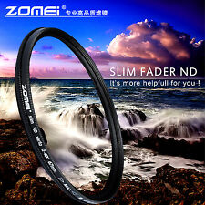 ZOMEI 62mm Neutral Density Fader Adjustable Variable ND Filter ND2,ND4,ND8-400