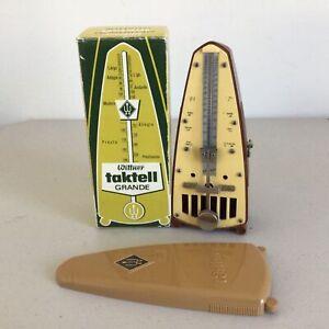 Vintage. Wittner Taktell Grande Light-Brown Metronom. Made in W-Germany #459