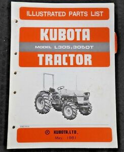 ORIGINAL KUBOTA L305 L305DT TRACTOR PARTS CATALOG MANUAL VERY GOOD SHAPE