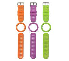 New Skycaddie Linx GPS Watch Bands Orange/Green/Purple (3 straps in Total)