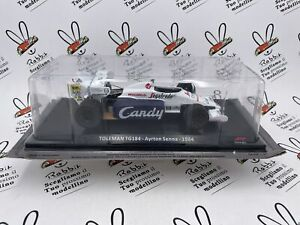"Die Cast "" Toleman TG184 - Ayrton Senna - 1984 "" Car For Corsa 1/24"