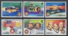 Liberia - 1975, Apollo Soyuz Space Link set - CTO - SG 1247/52 (e)