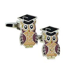 Graduation Owl University College Design Cufflinks Presented in a Box XSCL010