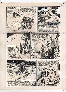 GLOESNER. Tempête sur l'Himalaya. Planche 11 publiée dans Frimousse en 1972.
