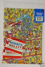 Wrapping Paper 2 Sheets 2 Tags Where's Wally And Classic Logo Tags