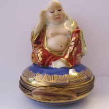 LIMOGES BUDDHA BLUE TRINKET BOX VIBRANT COLORS MINT PARRY VIELLE