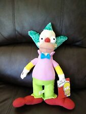 """KRUSTY THE CLOWN 15"""" PLUSH DOLL, The Simpsons, Toy Factory"""