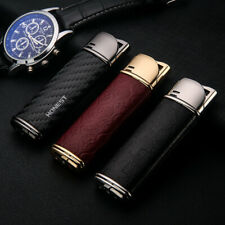 HONEST Jet Torch Lighter Butane  Leather Metal Cigar Lighters with Gift Box