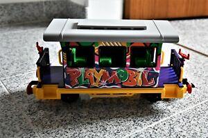 Playmobil Eisenbahn, Graffiti Personenwaggon Art.-Nr. 4118, auch Spur G/LGB