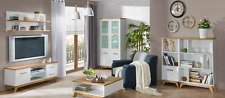 Tall Cupboard Dsigner Display Case Glass Wardrobe Shelf Living Room Möbel New
