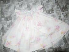 euc Sophie Dess lavender floral smocked dress baby girls 9 m free ship USA