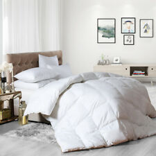 60%White Goose down feather comforter 100%EgyptianCotton Duvet Insert Queen size