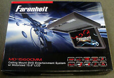 "NEW Farenheit MD-1560CMM 15.6"" Overhead TFT-LCD Monitor w/ Built-In DVD"