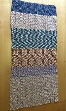 "Handmade Crocheted Afghan Throw Lap Blanket 65'' x 30"" Multi Colored"