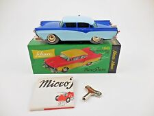 Schuco Micro Racer 1045 Ford Custom 300 Blue Lt Blue Wind Up Car New in Box