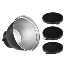 Flash Speedlite Light Reflector Diffuser Disc Honeycomb Grid Bowens Mount R0C6