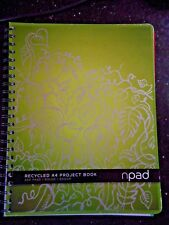 A4 Recycled Npad Project Book with 4 Colour Dividers Spiral Writing Pad