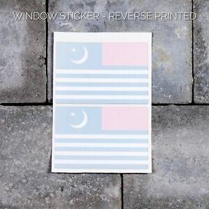 2 X Flag of Azad Kashmir INTERNAL FIT Window Car Van Sticker - UV3742