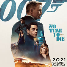 James Bond 007 No Time To Die Official 2021 Wall Calendar - 70 Dot Stickers