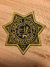 San Diego County California Sheriffs Department Police Patch Ca