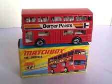 Matchbox Superfast 17 Londoner Bus Berger Paints rare gunmetal base with Box