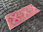Handmade vintage rug, Turkish small rug, Wool rug, Carpet | 1,1 x 2,6 ft