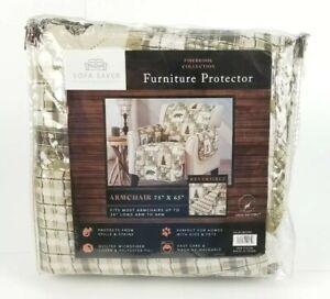 Furniture Protector Slipcover Armchair Reversible Quilted Microfiber Bears Elk
