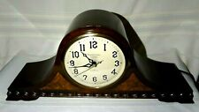 Vintage New Haven Westminster Chime Electric Mantel Clock Tambours