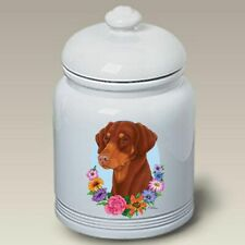 Uncropped Red Doberman Pinscher Ceramic Treat Jar Tp 47198