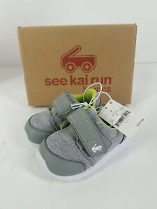 See Kai Run Shoes- Gray - Striker- Size 4. NEW IN BOX!
