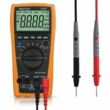 Digital Multimeter, Proster 3999 3 3/4 LCD Auto Ranging Multi Meter with Capacit